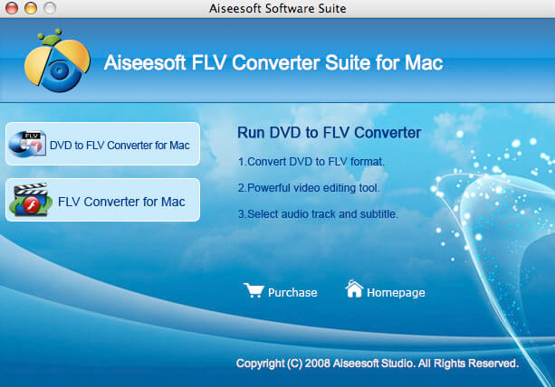 Aiseesoft FLV Converter Suite for Mac Screen shot