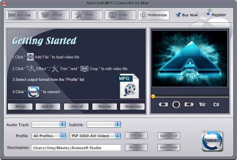 Aiseesoft MPG Converter for Mac