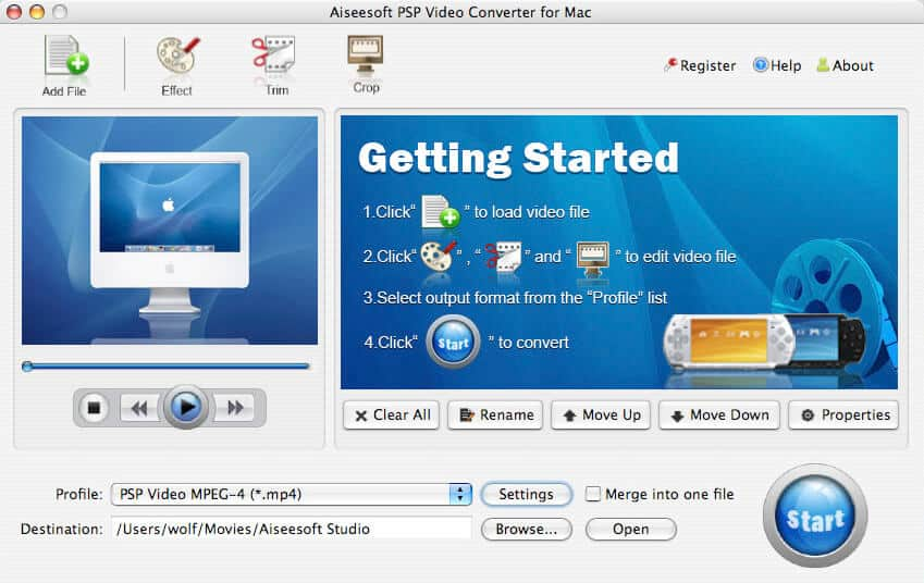 a perfect Mac PSP Video Converter