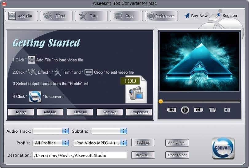 Aiseesoft Tod Converter for Mac 3.2.18 full