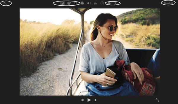 Επεξεργασία χαρακτηριστικών στο iMovie