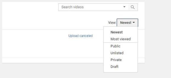 Rendi pubblico un video di YouTube