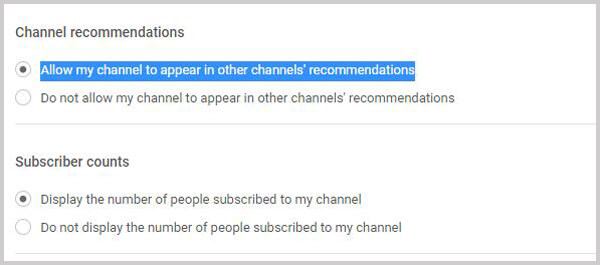 Rendi pubblico il canale YouTube