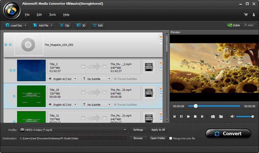 Aiseesoft Media Converter Ultimate Screenshot