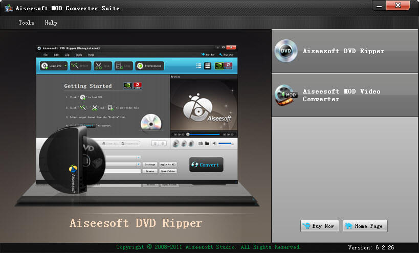 Click to view Aiseesoft Mod Converter Suite screenshots