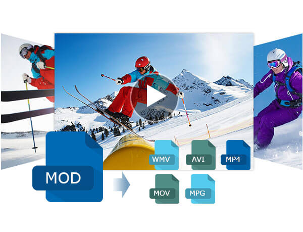MOD omzetten naar WMV AVI MP4 MOV MPG