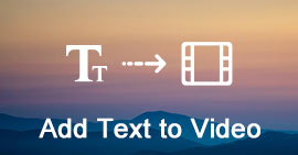 Add Text into Video