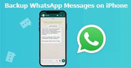 Backup dei messaggi WhatsApp iPhone