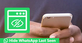 Seleziona Nascondi l'ultimo visto di WhatsApp
