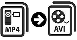 Μετατρέψτε MP4 σε AVI