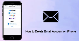 Elimina account e-mail su iPhone