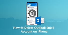 Elimina l'account e-mail di Outlook su iPhone
