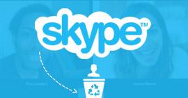 Διαγραφή επαφών Skype