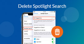 Usuń Spotlight Search iPhone iPad
