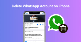 Elimina l'account WhatsApp su iPhone
