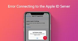Errore durante la connessione al server ID Apple