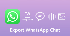 Esporta la chat di WhatsApp