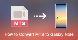 Converti AVCHD MTS in Galaxy Note