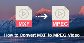 Converti MXF in MPEG