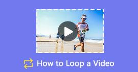 Crea un video loop