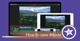 Save iMovie on Mac