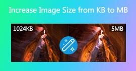 Αύξηση μεγέθους εικόνας σε KB σε MB