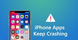 Arresto anomalo delle app per iPhone