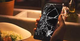 Correzione schermo rotto iPhone