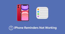 I promemoria per iPhone non funzionano