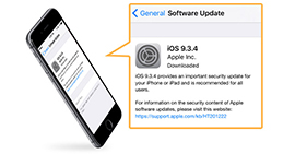 Aggiornamento software iPhone
