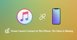 iTunes無法連接到此iPhone,缺少值