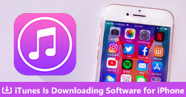 iTunes sta scaricando software per iPhone