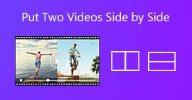 並排放置兩個視頻