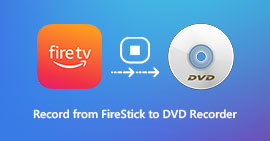 Record from Firestick to DVD Recorder