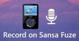 Registra registrazioni vocali su Sansa Fuze