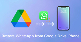 Restore WhatsApp from Google Drive to iPhone