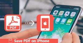 Save PDF on iPhone XS/XR/X/8/7/6/5/4