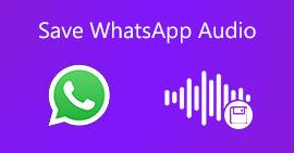 Salva l'audio di WhatsApp