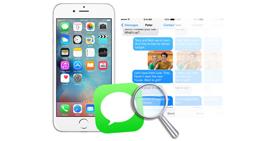 Αναζήτηση και δημιουργία αντιγράφων ασφαλείας μηνυμάτων κειμένου στο iPhone
