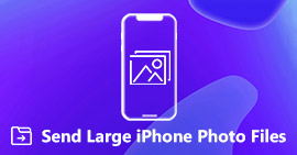 Send Large Photo Files from iPhone