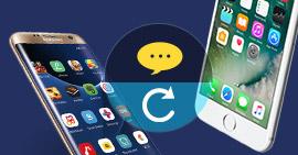 Utwórz kopię zapasową wiadomości tekstowych na iPhone'a / Androida