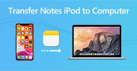 Μεταφορά σημειώσεων από iPod σε υπολογιστή