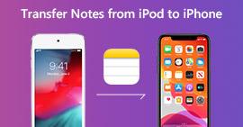 Trasferisci note da iPod a iPhone
