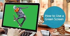 Usa uno schermo verde