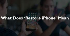 Cosa significa ripristinare iPhone