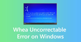 Fix WHEA_UNCORRECTABLE_ERROR