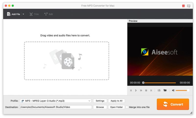 Aiseesoft Free MP3 Converter for Mac 6.5.12 full