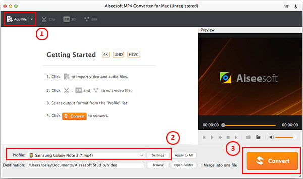 Steps of converting videos to MP4