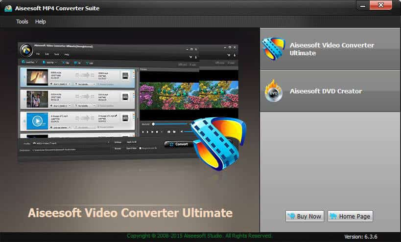Click to View Full ScreenshotAiseesoft MP4 Converter Suite 6.2.50 screenshot