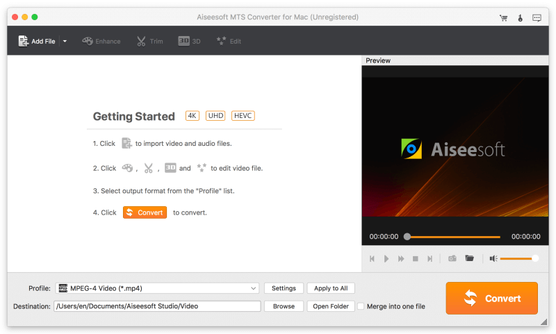 Aiseesoft MTS Converter for Mac screenshot